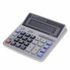 "KDT KT-2268 4.2"" LCD Electric 12-Digit Calculator - Grey White + Blue + Pink (1 x AA)"