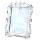 H2XD Retro Rectangle Shaped Plastic Photo Frame - Argent + Silver