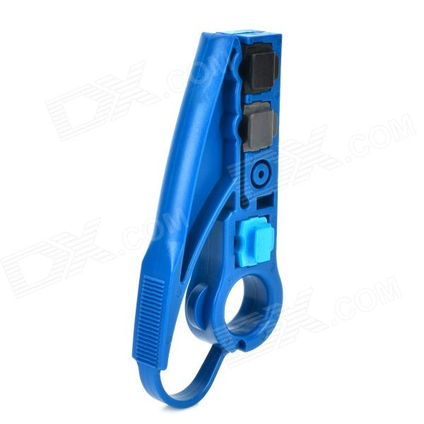 TL-S501E Coaxial Cable Stripper Plier - Deep Blue rotary coax coaxial cable cutter tool rg58 rg6 stripper free shipping