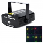 O-4C 4.5W 4-Pattern 2-Mode Laser Projector Stage Lamp - Black (US Plug / AC 100~240V)