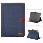 Denim Fabric Style Stylish Protective Case w/ Auto Sleep for iPad Air - Blue