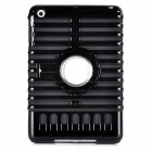 Fishbone Style Protective TPU + PC Case w/ Electroplating Holder for Ipad MINI - Black
