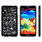 Letter + Cartoon Pattern Protective Plastic Back Case for Samsung Galaxy Note 3 N9000 N9005 - Black