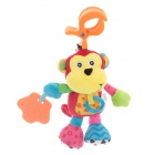 Lovely Monkey Doll Baby Toy w/ Sound Effect - Multicolored