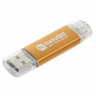 Taou OTG External Storage Micro USB  / USB Memory Stick for Smartphone / Tablet PC - Golden (8GB)