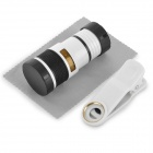 Universal 8X Telescope / Microscope Lens for Cell Phones Pads - White