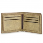 Estilo plegable cuero partido Monedero corta para hombre - Green Light + Light Brown
