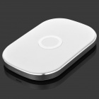 T-300 Efficient 3-coil 5V Wireless Charging Transmitter for Cellphone - White + Silver