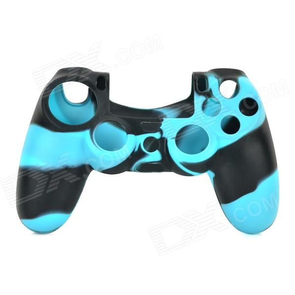 Anti-skid Protective Silicone Case for PS4 Controller - Black + Blue