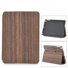 Wood Pattern Protective PU Full Body Case w/ Stand / Auto-Sleep for Ipad AIR - Dark red + Black