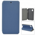 Protective Flip-open PU Leather Case w/ Holder for LG Nexus 5 - Deep Blue