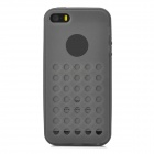 Hollow-Out Round Holes Style Protective TPU Back Case for iPhone 5 / 5s - Black