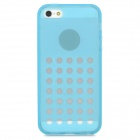 Hollow-Out Round Holes Style Protective TPU Back Case for iPhone 5 / 5s - Blue