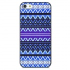Relief Tribal Ethnic Style Protective PC Back Case for Iphone 5 - Blue + Purple + Black