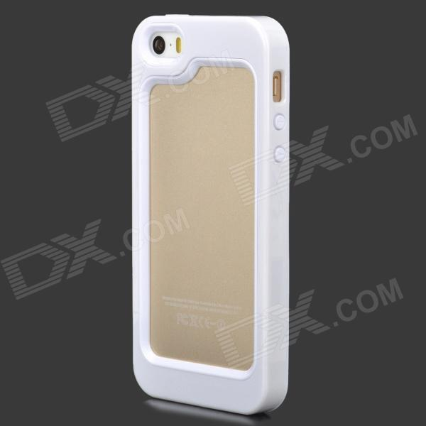 все цены на LSSJ-03 Detachable 2-in-1 Protective Plastic + Silicone Bumper Case for Iphone 5S - White онлайн