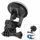 Universal Mini Car Mount Holder w/ Suction Cup for GoPro Hero 1 / 2 / 3 / 3+ - Black