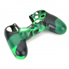 Protective Silicone Case for PS4 Controller - Black + Green