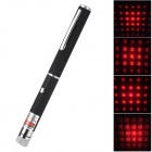 LSON 6E 5mW Aluminum Alloy 6 Pattern Red Laser Pen w/ Clip - Black (2 xAAA)