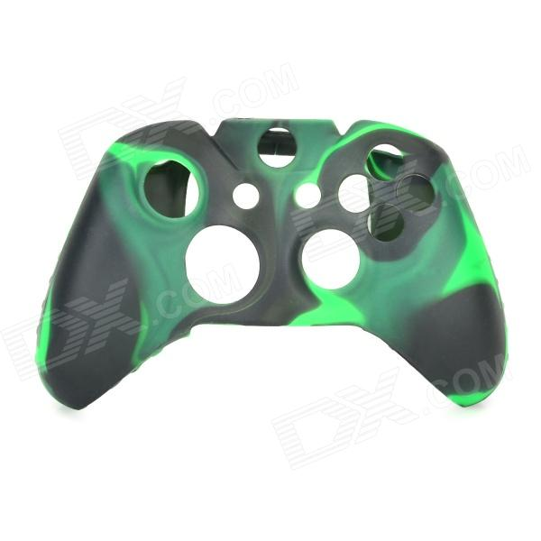 Anti-skid Protective Silicone Case for XBOX ONE Controller - Black + Green protective silicone case for xbox one controller camouflage green