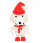 Christmas Dog Style USB 2.0 Flash Drive - White + Red + Multicolored (4GB)