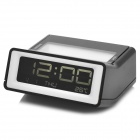 "2.5"" Screen Temperature Display Digital Clock w/ Snooze / Alarm / Light - Black (2 x AAA)"