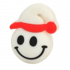 Cartoon Christmas Smile Style USB 2.0 Flash Drive - White + Red + Multi-Colored (4GB)