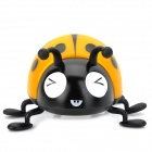 SK-15 Ladybug Style 3W USB Stereo Speaker w/ FM / TF / Mini USB - Black + Yellow