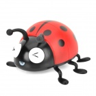 SK-15 Cute Seven-spotted Ladybug Stereo Speaker w/ FM / TF Card Slot / Remote Control - Red + Black
