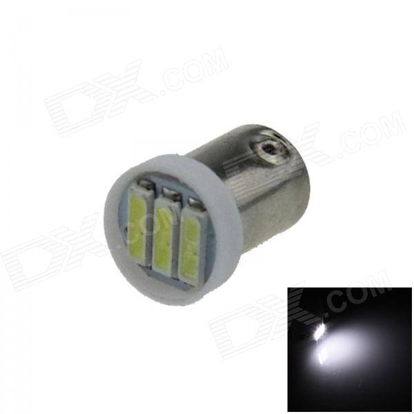 BA9S / T4W / W6W 0.3W 50lm 3 x SMD 7020 LED White Car Light Indicator / Instrument lamp - (12V)