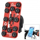 OQsport 12 Suction Cups Universal Bicycle Mount Holder for Cellphone - Red + Black