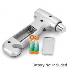 A094 Convenient 3-in-1 Life-saving Emergency Hammer + Torch + Cutter - Silver + Black (2 x AAA)