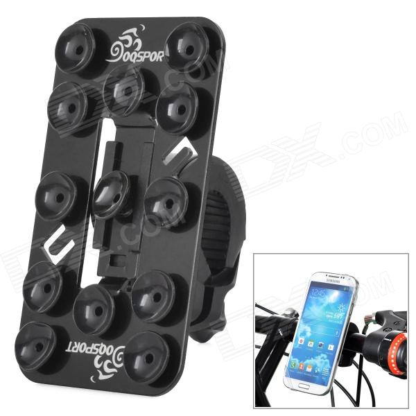 OQsport 12 Suction Cups Universal Bicycle Mount Holder for Cellphone - Black