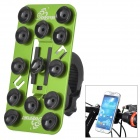 OQsport 12 Suction Cups Universal Bicycle Mount Holder for Cellphone - Green + Black