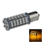 1156 / BA15S / P21W 4W 300lm 102 x SMD 1210 LED Yellow Car Signal Light / Steering Lamp - (12V)