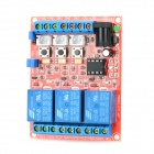 3CH 5V Relay Module w/ Opticalcoupler Protection - Red + Blue