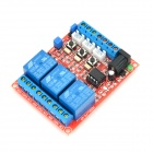 Module de relais 5V 3CH w / Protection Opticalcoupler - Rouge + Bleu