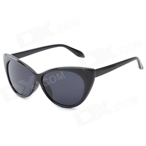 GL77042 UV400 Protection ABS Frame AC Lens Sunglasses for Women - Black clip on uv400 protection resin lens attachment sunglasses small