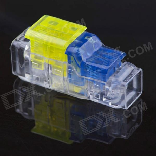 Jtron Free Peeling Quick Connect Terminals / 2 on 2 Straight Through - Yellow + Blue + Transparent straight talk on worry