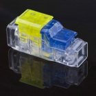 Jtron Free Peeling Quick Connect Terminals / 2 on 2 Straight Through - Yellow + Blue + Transparent