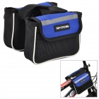TOP CYCLING Bicycle Front Tube Bag - Black + Blue