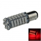 1157 / BAY15D 4W 300lm 102-SMD 1210 LED Red Car Steering Light / Backup Light / Brake Lamp - (12V)