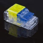 Jtron Free Peeling Quick Connect Terminals / 3 on 3 Straight Through - Yellow + Blue + Transparent