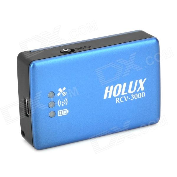 Holux RCV-3000 Bluetooth Wireless GPS Receiver Data Logger - Deep Blue + White цена 2017