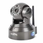 VESKYS VT36 30KP P2P Surveillance IP Network Camera w/ Wi-Fi / TF / 10-IR LED - Black