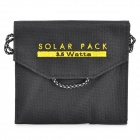 BSV-SY0035 3.5W Foldable Solar Panel Notebook Mobile Phone Battery Pack - Black