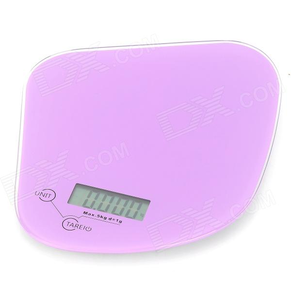 1.8 LED Electronic Digital Kitchen Scale - Purple + Black (5kg / 1g / 1 x CR2032)