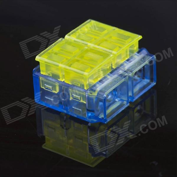 Jtron Free Skinned Electric Wire Connector / 2-Pin to 2-Pin Short Connection - Yellow + Blue