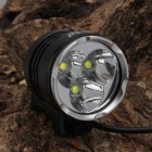 SingFire SF-822 1350lm White 3-Mode 3-LED Bicycle Headlight - Black + Silver (4 x 18650)