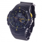 OHSEN AD1303 Waterproof Stylish Multifunction Quartz Analog + Digital Display Wrist Watch - Black