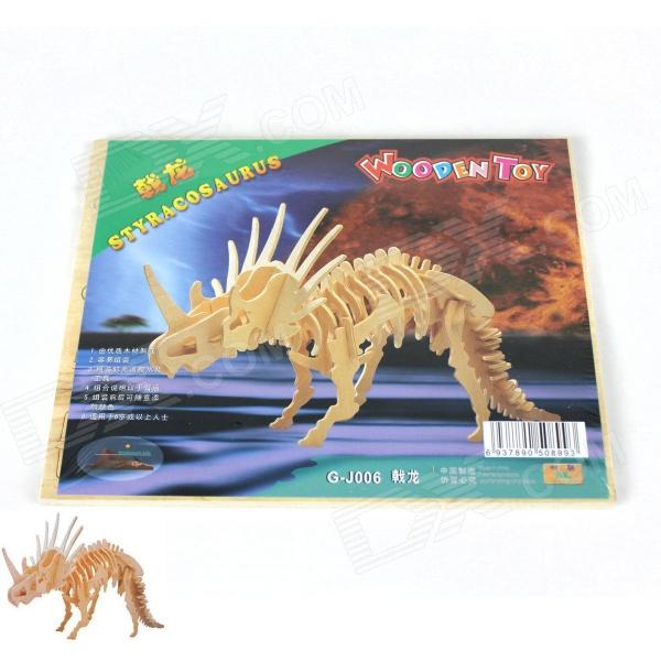 DIY Wooden Assembling Styracosaurus Model - Burlywood